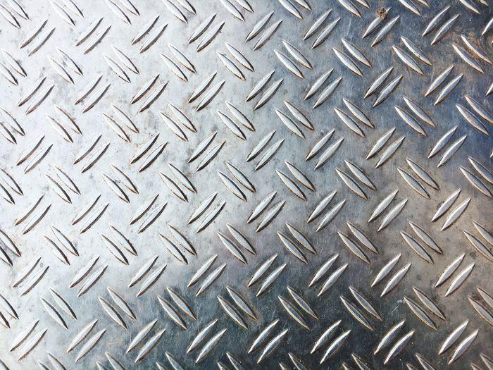 Close-Up Of Metal Diamond Plate
