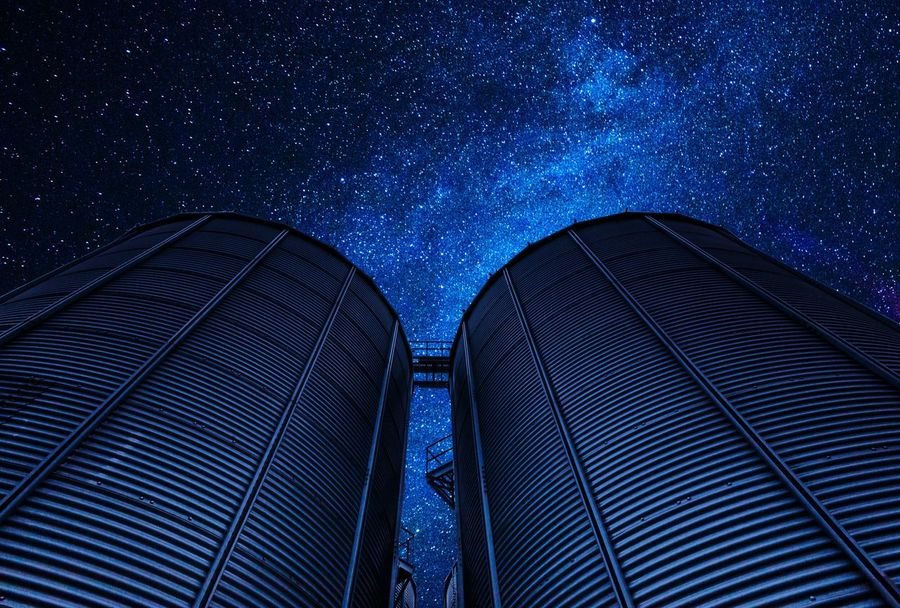 Night twins Sky Blue Connection Night Space Technology Astronomy Abstract Star - Space Outdoors No People Mistery Space And Astronomy Constellation Galaxy Milky Way Star Field Clear Sky Himmel Nacht Sternenhimmel Milchstrasse Sterne  Nature Scenics