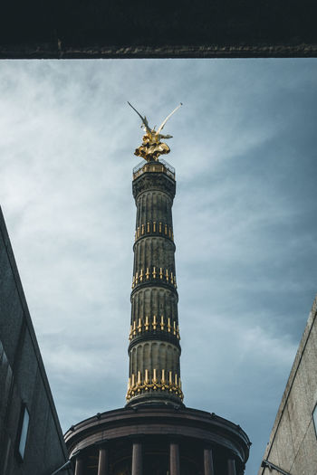 Die Siegessäule Siegessäule  Architectural Column Architecture Art And Craft Beauty In Nature Building Building Exterior Built Structure City Cloud - Sky Day Germany History Low Angle View Nature No People Sculpture Sky Statue Tall - High The Past Tourism Travel Travel Destinations #FREIHEITBERLIN
