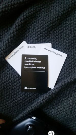 Cardsagainsthumanity A Game For Horrible People Fun Game Night Text No People Day Card Games Blackandwhite Simple Photography Funny Dark Humor