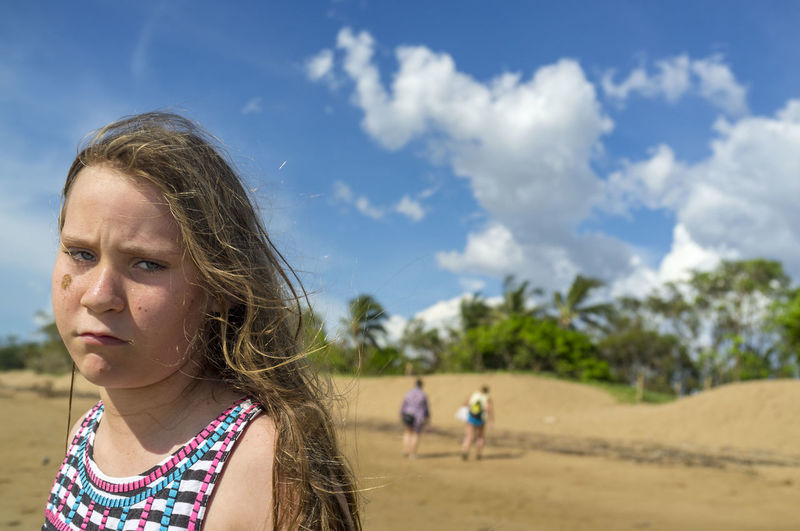 Portrait of girl at beach