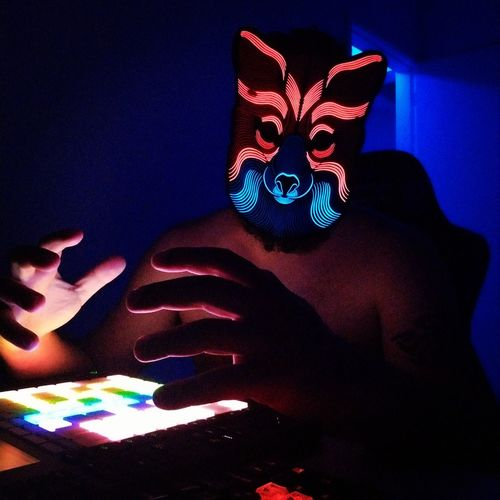 Music Beat Spooky Close-up Music Concert Stage Light Entertainment Mask - Disguise