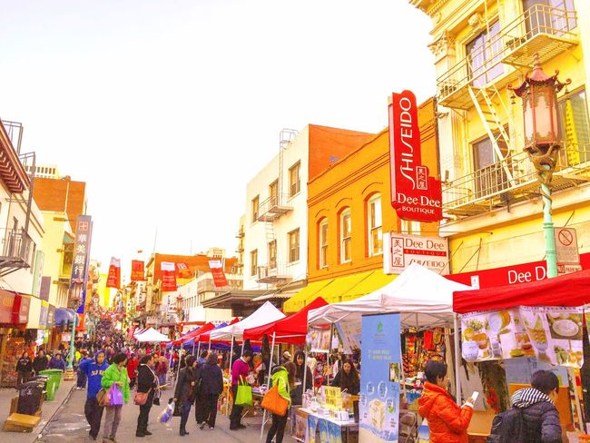 Festival Season Festival Street People Booth Tents Shops Stores Shopping Buildings Signs Posts Advertisement San Francisco Chinatown California Colors Coloful Colour Of Life What's On The Roll People And Places