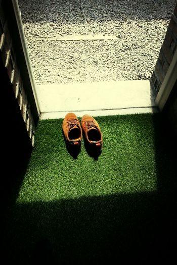 Grass Green Shoe Selfie