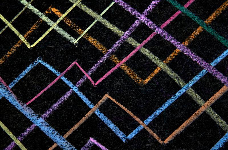 Full frame shot of multi colored pattern on tiled floor