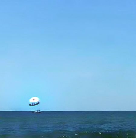 Waterscape Photography Watersports White Paracute Paragliding Paracute On Water Blue Sky Water Activities Outdoor Photography Outdoor Activities Waterscape The Essence Of Summer The Great Outdoors – 2016 EyeEm Awards Destin,Florida, USA
