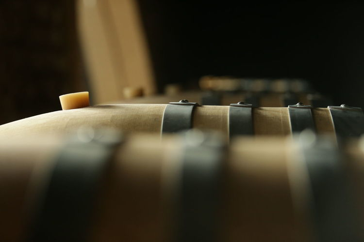 cellar with wooden barrels to store wine, beer, rum, whiskey Agriculture Beer Alcoholic Drink Antique Arts Culture And Entertainment Barrels Cellar Old Selective Focus Studio Shot Viniculture Whiskey Wine Wood - Material