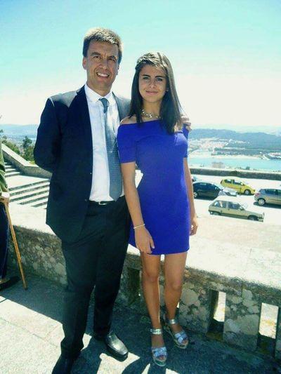 Wedding Day Daddy Daddy's Girl Wedding Party Blue Dress Glamour Viana Portugal Landscape