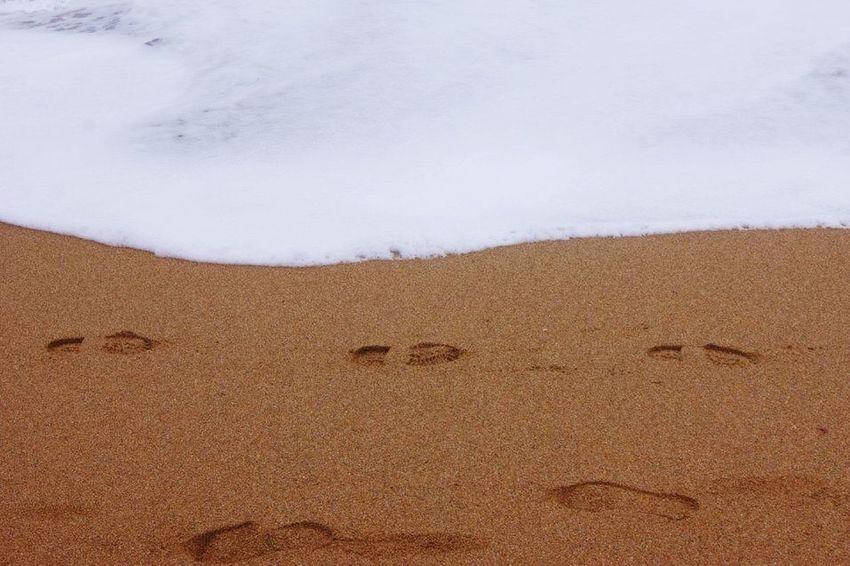 Footprints Beachphotography Sea Beach Sand