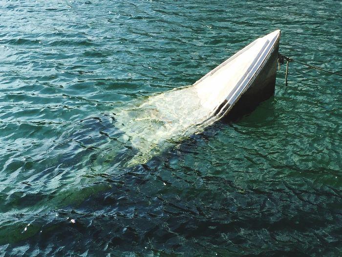 Water Transportation Boat Water Surface Nature Scenics Drowning Outdoors Waterfront Blue Croatia Omis Croatia Dalmatian Showcase September Sinking