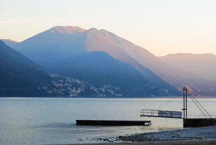 Lake Como in winter - Argegno, Como, Italy. Italia Lario Lombardy Travel Argegno Beauty In Nature Cold Temperature Europe Italian Italy Lake Lake Como Lakescape Landscape Landscapes Lombardia Mountain Mountain Range Nature Outdoors Scenics Sky Tourism Tranquility Water