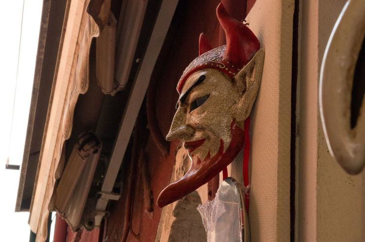 Architecture Art And Craft Burano Carnival Carnival Mask Close-up Day Devil Italy Low Angle View Mask No People Sculpture Statue Travel Venice Venice, Italy