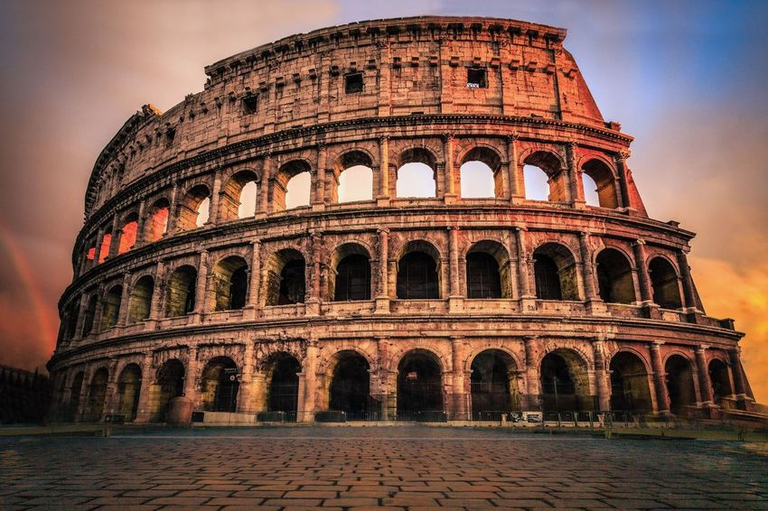 Rome Architecture Built Structure Travel Destinations Tourism Travel Building Exterior Cultures History City Outdoors Sky No People Day Colosseum Colosseo Italy Historic