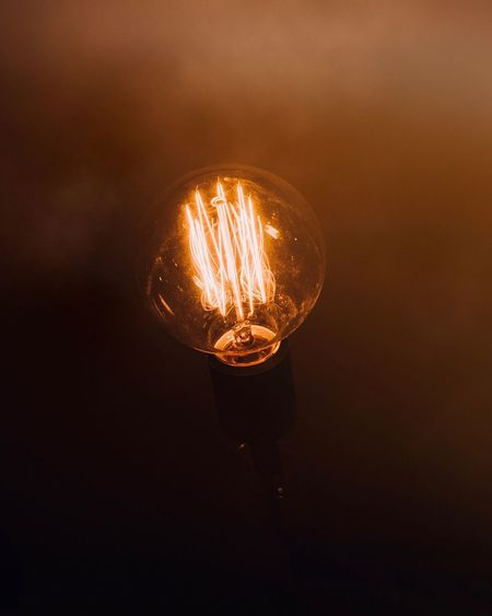 Iight Bulb Filament Light Filament Bulb Filament Idea EyeEm Selects Illuminated Lighting Equipment Light - Natural Phenomenon Light Bulb Electricity  Filament Light Dark Glowing
