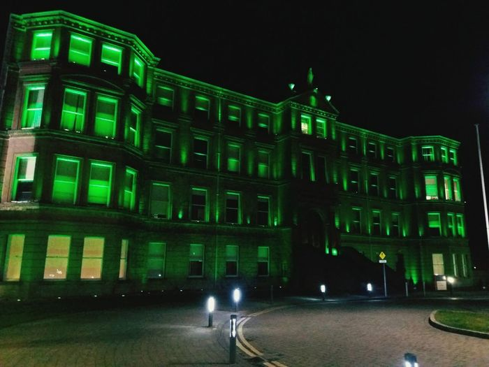 Global Greening (March 2018) Ireland🍀 St. Patrick's Day Green Color City Illuminated Architecture Building Exterior Built Structure
