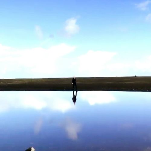 In The Mirror Cloud - Sky Blue Outdoors Day No People Sky Water Nature Amazing Nice Day Today Nature Photography Interesting Perspectives Some Story Forget Mistery
