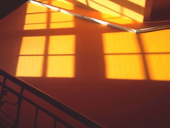 Architecture Window Light Light And Shadow Sunset Light In The Darkness Stairs Hallway Colors Colorful Orange Market Bestsellers 2017