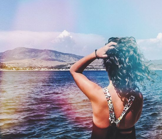 ThatsMe Summer Sea Sea And Sky Holiday Bodrum Gümbet Relaxing Enjoying Life Gokyuzu Deniz Girl Colorful Color Portrait Woman Portrait