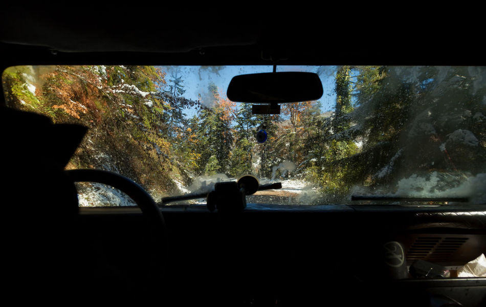 Road Trip Car Car Interior Day Land Vehicle Mode Of Transport Nature No People Rearview Mirror Roadtrip Snow Snowy Days... Snowy Trees Tranquil Scene Tranquility Transportation Travel Tree Trees Vehicle Interior Windshield Windshield Wipers Winter Winter Wonderland