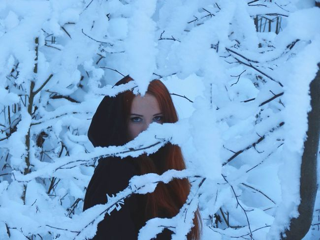 Beaty Na Ture Queen Kavgolovo Cult Wintertime Welovewinter Portrait Winter Front View Long Hair