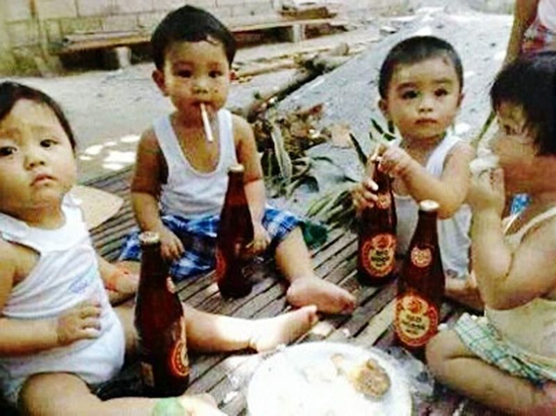 Drinking Beer Naughty Kids Omg!!!!!!