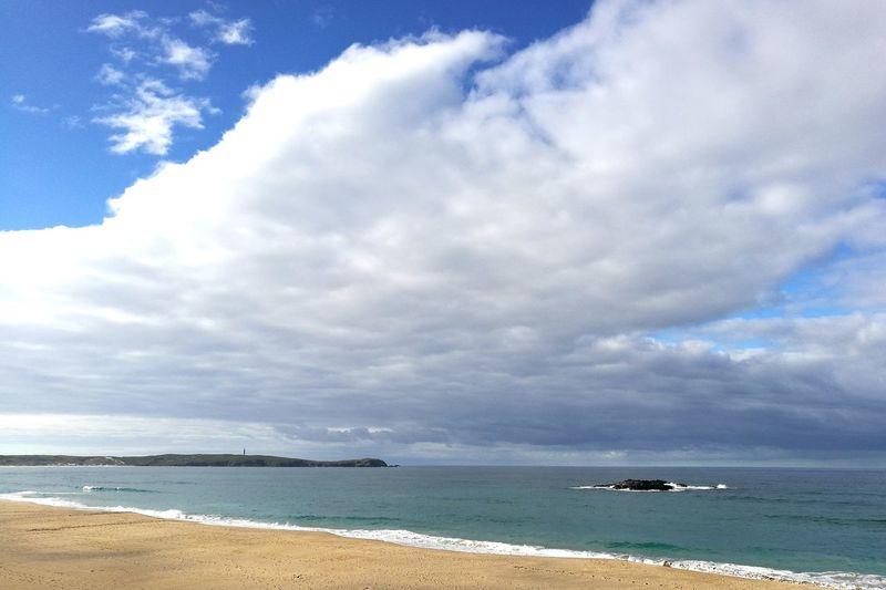 Punta Frouxeira Percebelleira Beach Sea Sand Coastline Outdoors Nature Travel Destinations Faro Lighthouse Tower