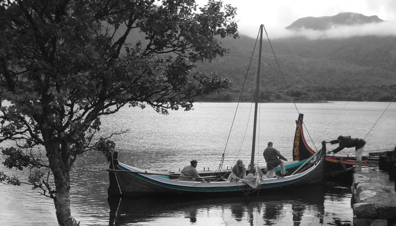Blackandwhite Borg Day Gondola - Traditional Boat Lofoten Men Nature Nautical Vessel Norway One Man Only Outdoors People Sailing Sky Transportation Travel Destinations Tree Vicking Vickings Water Women
