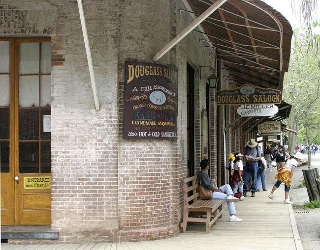 California History Carpenter Sign Gold Prospecting Town Jamestown Saloon Sign Cowboy Sidewalk California Dreamin