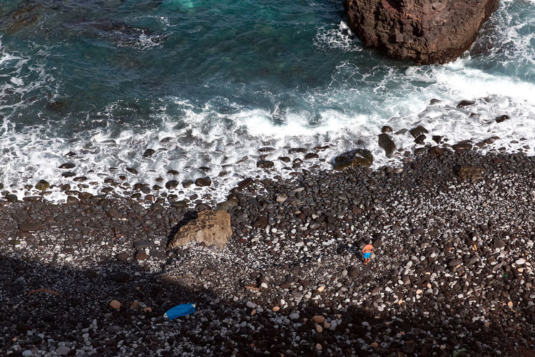 Canary Islands Pebble Beach Beach Beauty In Nature Blue Canon Day Motion Nature Outdoors Rock - Object Scenics Sea Water Wave