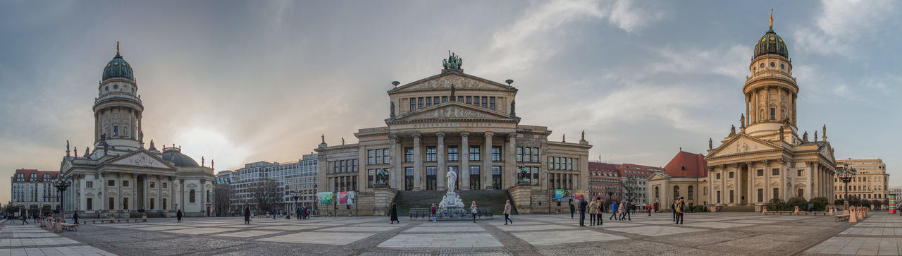 Berlin City Cityscape HDR Konzerthaus Berlin Panorama Architecture Building Exterior Built Structure City Day Dome Konzerthaus Outdoors People Politics And Government Sky Travel Destinations