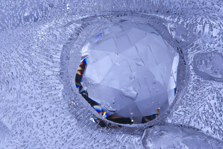 Close-up of wet crystal