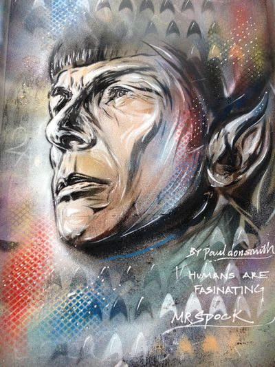 Character Close-up Day Famous People Humans Are Fascina Indoors  Mr Spock Multi Colored No People Painted Image Paul Donsmi Portrait Grafi Spock Grafi Sport Sports Star Trek Trekkie