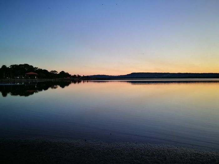 Reflection Sky Sunset Nature Water Beauty In Nature Clear Sky Tranquility Peace Colour Of Life Peaceful Place Travel Destinations Paradise ❤ Sanbernadino Paraguay ♥