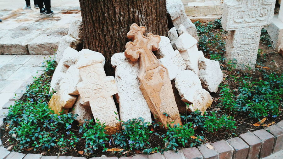 The tombstones of Stavropoleos Monastery Bucharest Romania Monastery Bucureşti Europe Trip