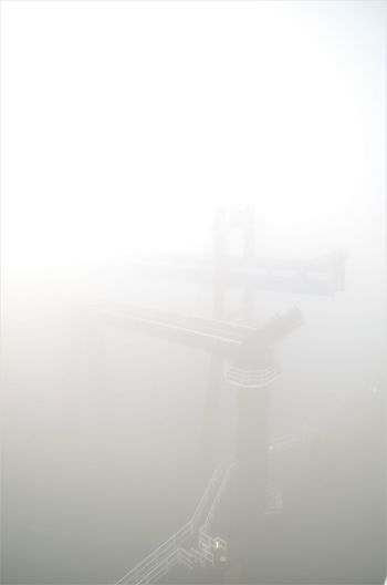 fog on the ferry Aerial View Airplane Architecture Bridge - Man Made Structure Built Structure City Cityscape Connection Day Electricity  Electricity Pylon Fog Nature No People Outdoors Sky Transportation Travel Destinations Water