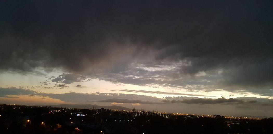 Illuminated Sunrise Illuminated City Silhouette Sky Dramatic Sky Moody Sky