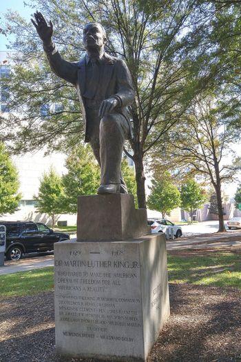 Martin Luther King Statue Park Urban Landscape Charlotte Civil Rights