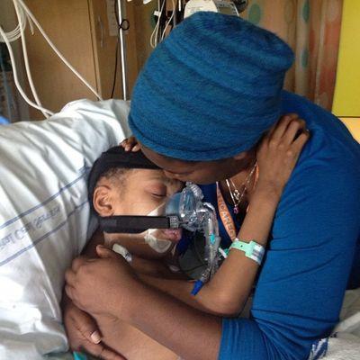 Mama son time. Seattlechildrens Seattlechildrenshospital Donatelife Donatelifetoday pneumonia posttransplant