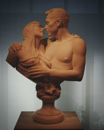 Statue Human Body Part Beauty Sculpture Indoors  Arts Culture And Entertainment People Close-up Holding Love