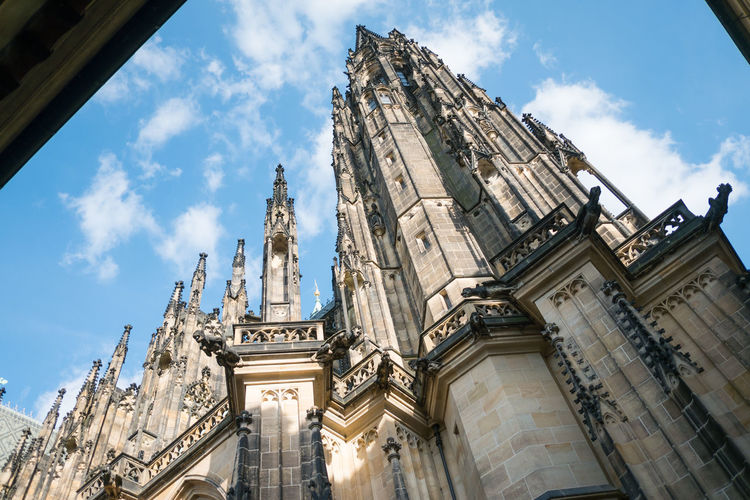 Low Angle View Of St Vitus Cathedral Against Sky