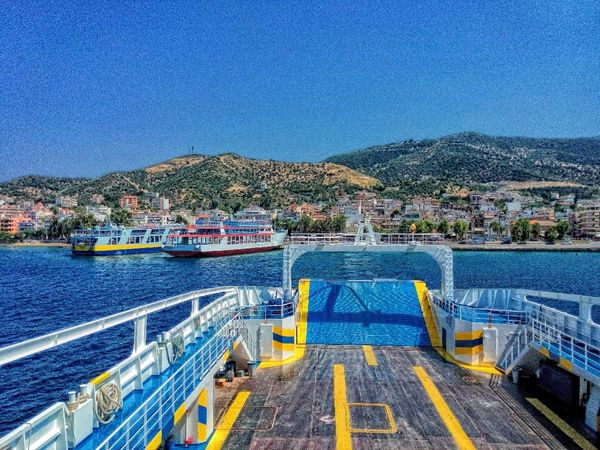 Port Ship Sea Greece Colors Colours Colorful Going Sailing