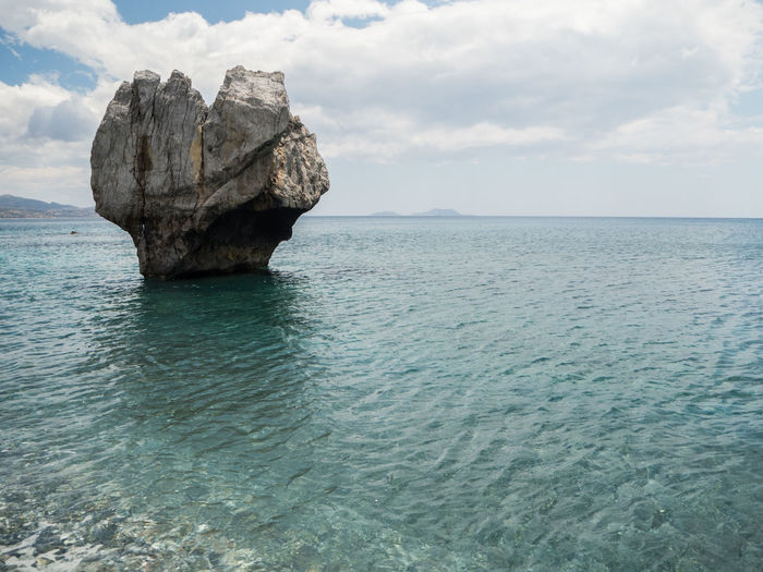 Beauty In Nature Eroded Heart Heart Shape Horizon Horizon Over Water Idyllic Nature No People Rock Rock - Object Rock Formation Scenics - Nature Sea Sky Stack Rock Tranquil Scene Tranquility Turquoise Colored Water Waterfront