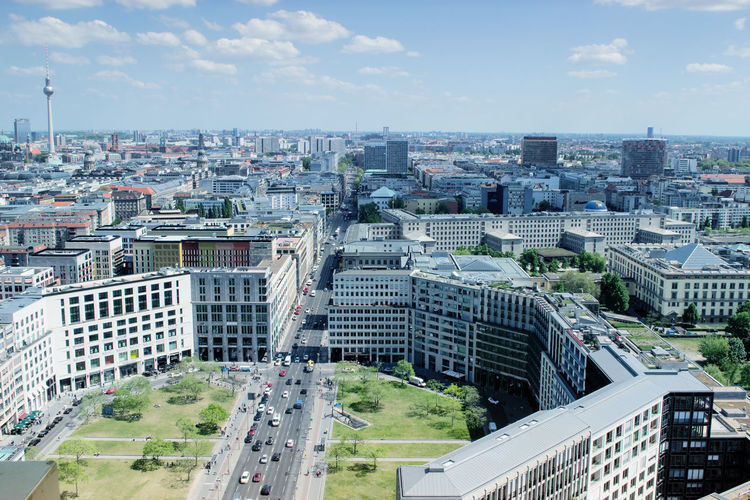 Architecture Berlin Built Structure City City Life Cityscape Germany No People Outdoors Panoramic Potsdamer Platz Uban
