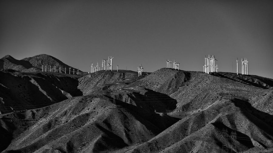EyeEmNewHere Palm Springs CA. Roadside Attractions Windmills Clear Sky Day Nature No People Outdoors Roadside Landscape Roadside Shots Roadsidephotography Sky