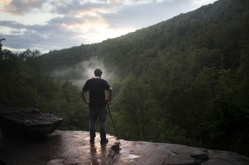 Overlooking Kaaterskill Falls in Upstate New York. New York People Travel New York State Outdoors Landscape 6D Canon 6D Beauty In Nature Nature Mountain Fog Adventure Hiking Forest Kaaterskillfalls Catskills Upstate NY