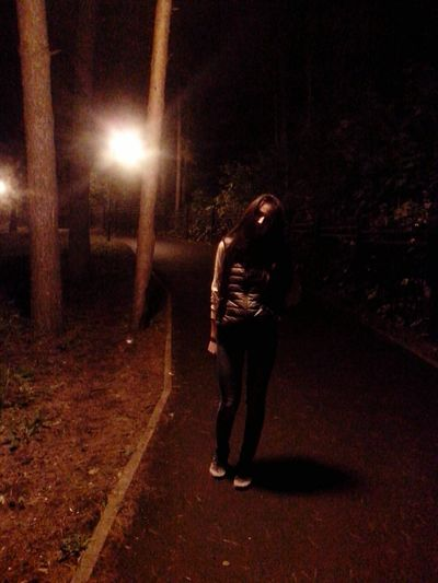 Illuminated Night Full Length Street Light Street Outdoors Dark Footpath Light Beam