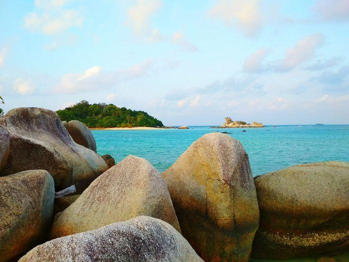 Peninsula Kelayang beach view Beachlife Rock - Object Island Bluesea Seasky Scenics Water Sea Beach Sand Pebble Beach Sky Horizon Over Water Cloud - Sky