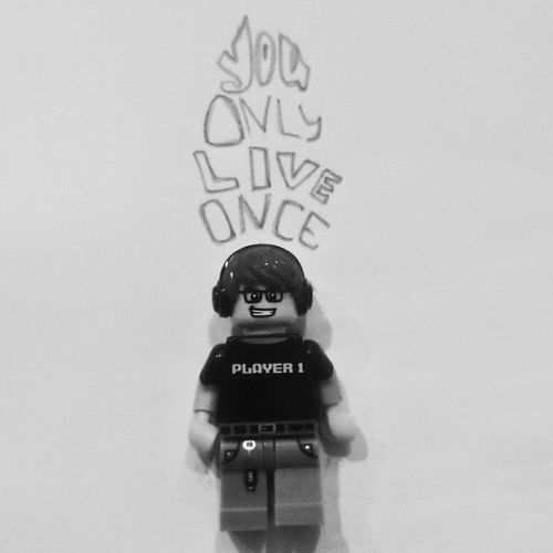 You Only Live Once but if you do good once is enough ☺ Yolo LEGO Player LegoLagi LegoAddict typography