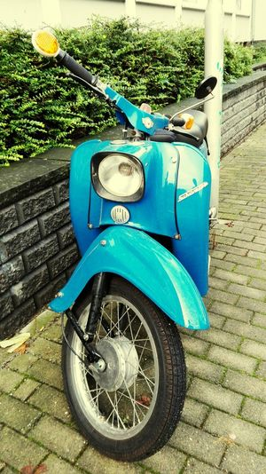 Simson Schwalbe Blue Old Scooter DDR Time Check This Out Summer2015 Summer Views Taking Photos