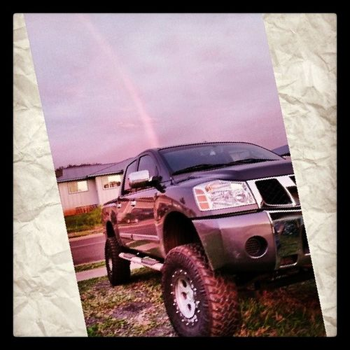 Oh you know jus towing around rainbows. Pot of gold in the back haha... @choch00 Titantuesday Titan Lanaimobettah